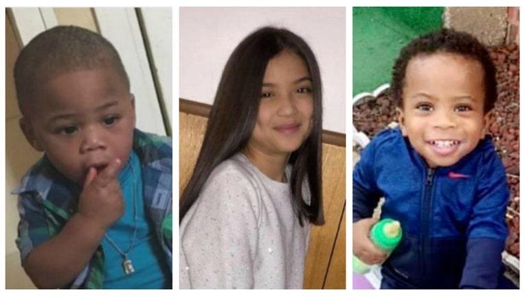 Chicago gun violence victims Mekhi James, Lena Nunez and Sincere Gaston