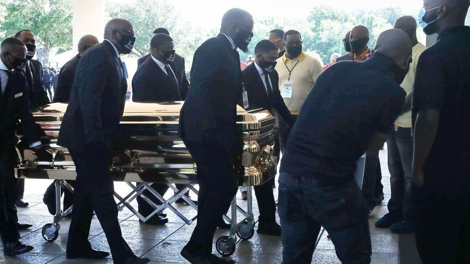 91f0e477-Public Memorial For George Floyd Held In Houston