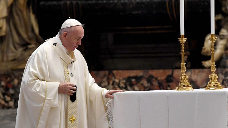 Pope Francis Leads Corpus Domini Mass At St. Peter's Basilica