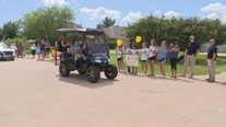 Forney residents welcome home 12-year-old girl who survived shark attack
