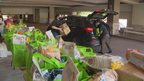 Food drive in Fort Worth provided food for hospitality workers as restaurants deal with uncertain future