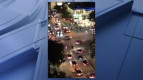 Video shows street racing, stunts going on in Victory Park, right outside American Airlines Center