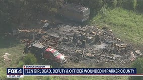 Teen girl killed, deputy and officer wounded in Parker County