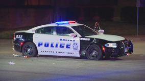 Dallas officers involved in separate crashes overnight Friday