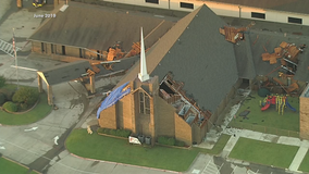 Greenville church damaged by tornado holds groundbreaking ceremony where new sanctuary will be built