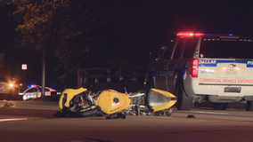 Motorcycle driver killed, passenger injured in North Dallas