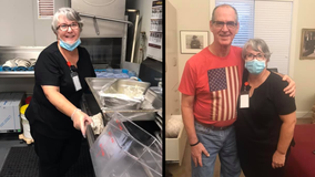 Wife takes dish washing job at nursing home to visit husband with Alzheimer's