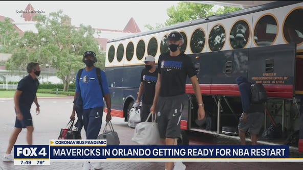 Mavs arrive in Orlando to restart NBA season