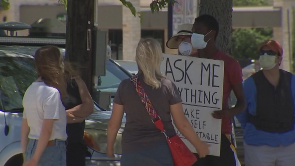 UT Dallas student holds street corner conversations on race, equality