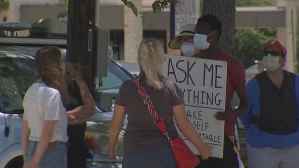 UT Dallas student holds street corner conversations on race, equality