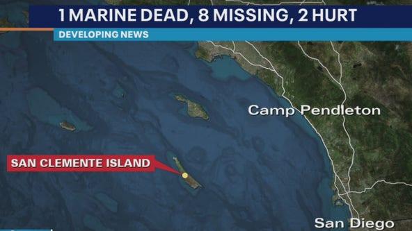 1 Marine dead, 8 missing, 2 injured following training mishap off San Clemente Island coast