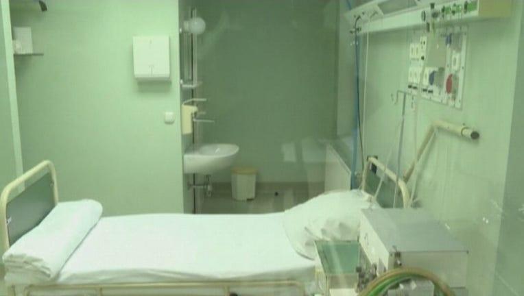 ICU hospital bed medical doctor