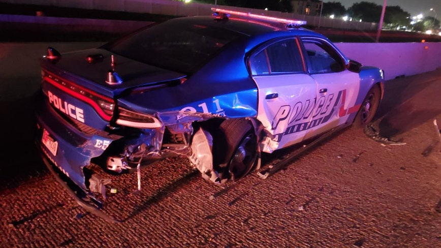 Suspected drunk driver crashes into Arlington PD vehicle