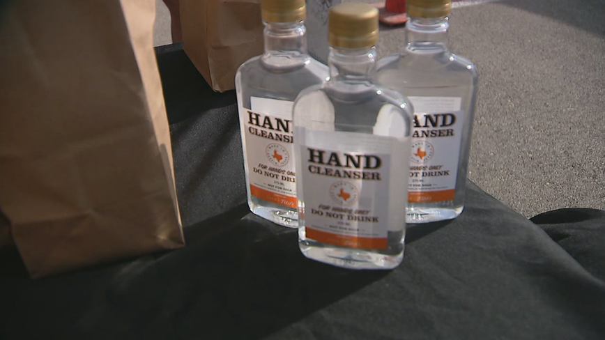 Tito's Handmade Vodka gives away 44,000 bottles of hand sanitizer in Dallas