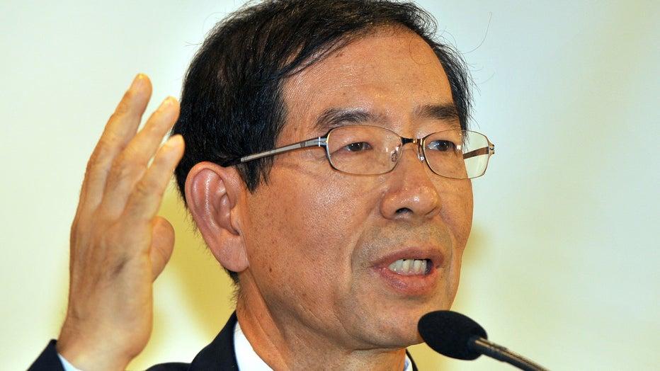 Seoul mayor Park Won-Soon speaks during