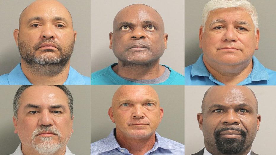 Six HPD narcotics officers Harding Street raid