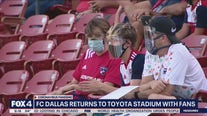 FC Dallas have fans in the stands for first home game of restarted MLS season