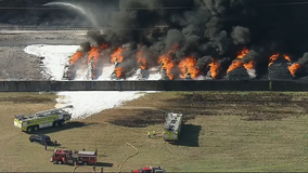 Grand Prairie plastics manufacturing plant fire contained, mostly extinguished