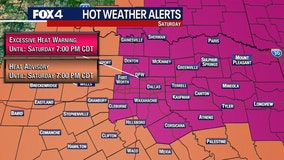 Official high of 106 degrees sets daily record at DFW, and it's the highest recorded this year