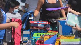 Oak Cliff families given extra support with backpack and grocery giveaway