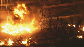Power lines ruled out as cause of Grand Prairie industrial facility fire