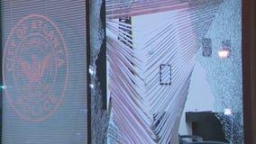 Atlanta police precinct damaged during protest over Jacob Blake shooting
