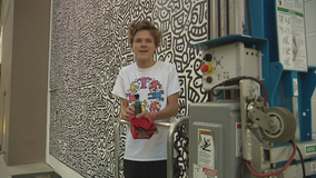18-year-old artists paints intricate mural in Downtown Dallas