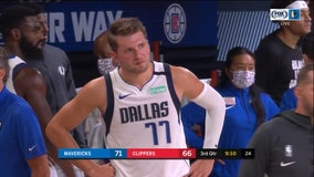 Clippers hold off Doncic, Mavs after Porzingis is tossed