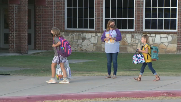 Students in in a few North Texas school districts head back to school