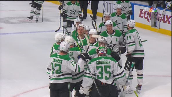 Stars beat Blues to draw Flames in Stanley Cup playoffs