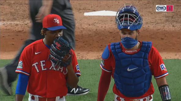 Rangers end skid with 4-3 win over the Angels