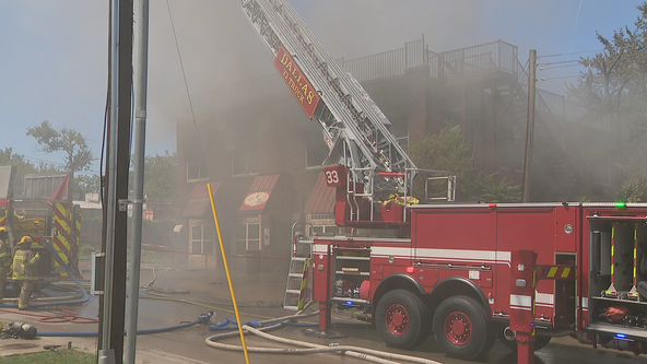 Dozens of firefighters needed to put out fire at Dallas vacant building