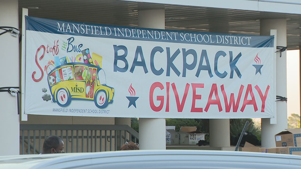 Mansfield ISD hosts annual back-to-school bash as drive-thru event