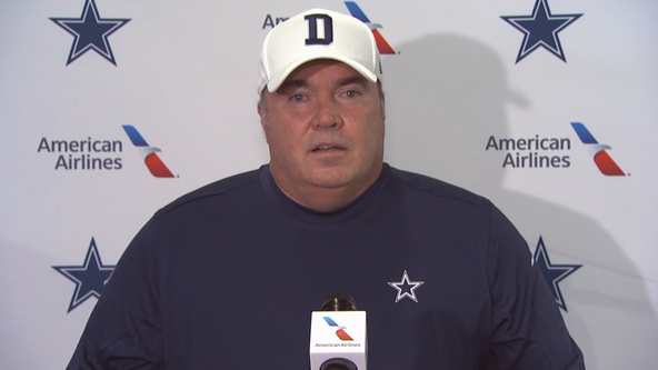 Dallas Cowboys coach Mike McCarthy gives an update on training camp with COVID-19 precautions in place