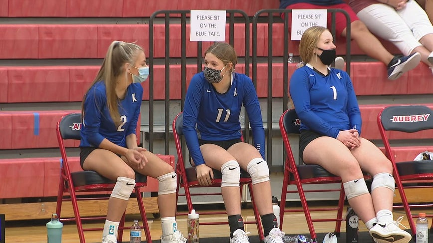 Aubrey ISD hosts first volleyball game of the year since COVID-19 pandemic began