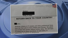 Irving PD investigating hate mail threatening Chinese, Indian IT workers to 'leave the country or be shot'