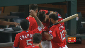 Astros clinch final AL playoff spot despite loss to Rangers