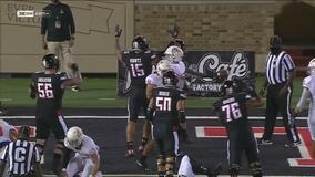 Bowman, Texas Tech hold off Houston Baptist 35-33 in opener