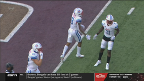 SMU holds on to win first game at Texas State, 31-24