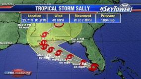 Tropical Storm Sally forms off Florida coast