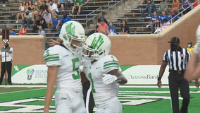 Fine replacement: Bean has 4 TDs as UNT beats Houston Baptist 57-31 to open season