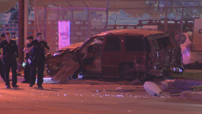 Driver killed, person in wheelchair injured in West Dallas crash