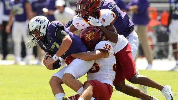 Hall 154 yards rushing, 3 TDs as Iowa State beats TCU 37-34