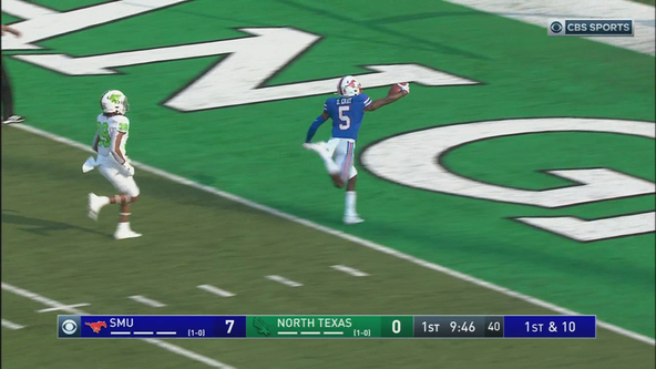 Buchele's 5 TDs help SMU beat North Texas 65-35