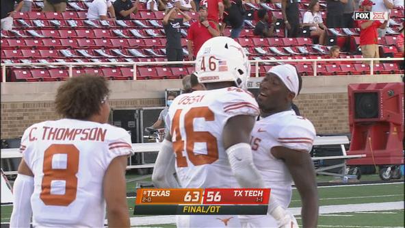 No. 8 Texas rallies to beat Texas Tech 63-56 in overtime