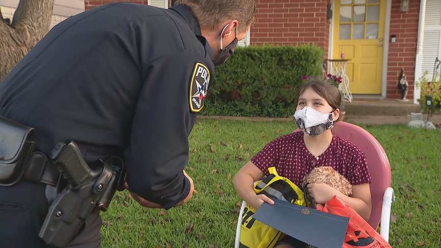 Irving girl honored for her quick thinking in an emergency