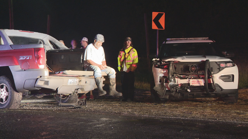 Pickup truck hits Kaufman County deputy's parked SUV