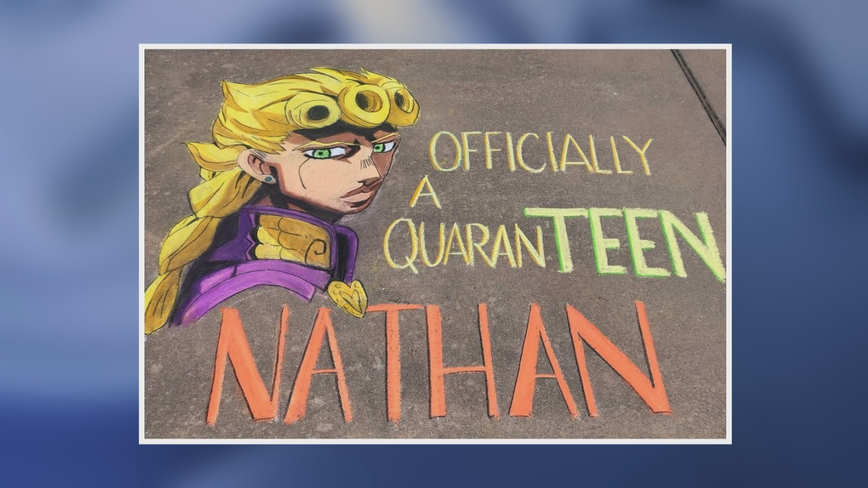 North Texas student turns chalk hobby into business during pandemic