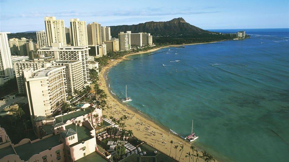 Waikiki Beach, Oahu Island, Hawaii