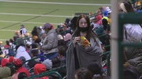 High school football fans enjoy chilly weather in the stands Friday night